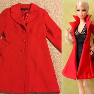 Vintage Kristen Blake red car coat